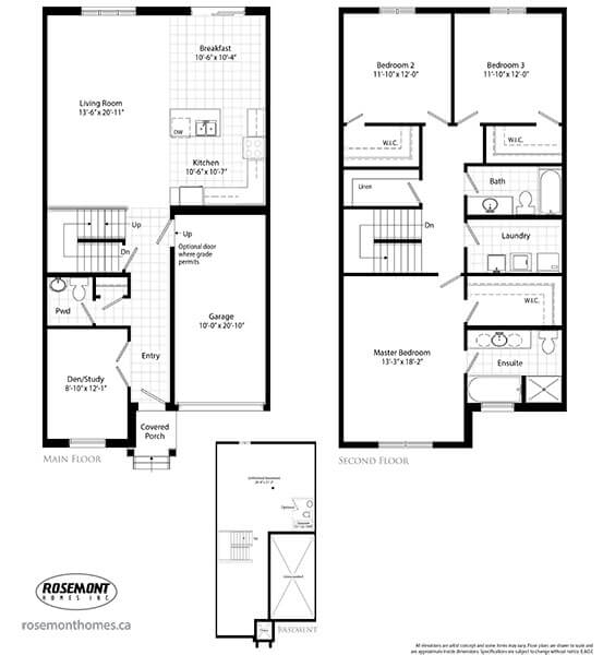 Shoreview place new construction townhomes in stoney Place builders floor plans